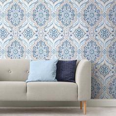 Toile Wallpaper, Wallpaper Roll, Peel And Stick Wallpaper, Bohemian Wallpaper, Funky Wallpaper, Adhesive Wallpaper, Roommate Decor, Roommates, Dorm Furniture