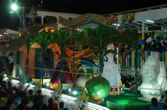 The Carnaval stands in Gonaives, Haiti 2014 was well docorated. Each of them had a theme.