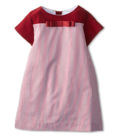 Elephantito Color Block Stripped Dress (Toddler/Little Kids) Red & Ivory - 6pm.com