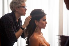 Alessia Ventura during the #shooting of #spring-summer 2014 #collection.