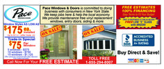 Pace will help you save on all your window and door needs! Rochester, NY