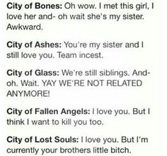 Hey remember when Jace and Clary were happy? Oh wait.. Best Books ever.....