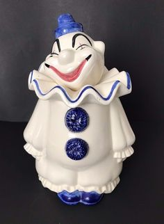 Clown Cookie Jar Metlox Poppytrail Ebay