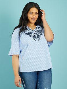29c4e6a0e4 Rebajas blusas túnicas en tallas grandes de mujer baratas - moda Tallas  grandes mujer | Kiabi