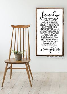 Our original Family is Everthing Family Definition rustic wood sign is the final touch for your home. Its the perfect size to hang and display or use as shelf decor. It makes a great gift wedding or anniversary gift as well!