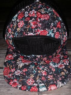 c94143a6b57 VANS OTW Off The Wall Floral Flower Mesh Beach Girl Skater Trucker Hat   fashion