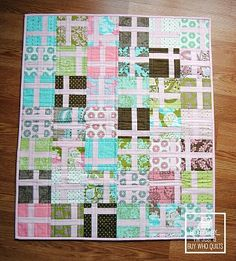 """Ryan Walsh of I'm Just A Guy Who Quilts, put together a fabulous tutorial for this mini quilt. It's called Bundles of Joy Quilt and finishes at 24"""" x 28"""". You'll need one charm pack and one yard of..."""