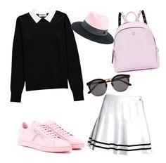 Black Cute by estherbc on Polyvore featuring polyvore fashion style Essentiel Tod's MCM Maison Michel Illesteva clothing