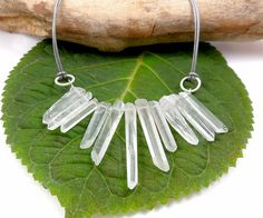 Crystal Quartz Necklace  Raw Rock Crystal Point by PATCHOULIBIRD, $50.00