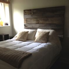 My new barn wood headboard - I absolutely ADORE it!!!