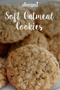 "Soft Oatmeal Cookies | ""This is the best oatmeal cookie recipe I've had yet. I can't put my finger on what separates this one from the rest, but the ingredients are the perfect combination for a great tasting cookie. Crispy on the edges and soft and chewy in the middle, with a perfect blend of spices. I can't wait to try them with raisins and various flavors of chips. Thanks for a great recipe."" #allrecipes #cookies #cookierecipes #bakingrecipes #recipes #cookieideas"