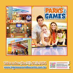 O Parque de Diversão Indoor Parks e Games está instalado em diferentes shoppings centers do Brasil oferecendo para seus visitantes diversas opções de brinquedos e jogos eletrônicos como Bate-Bate, Parede de Escalada, Pula-Pula, Fliperamas, Carrossel e Personagens Infantis.  Principais Atrações: Parede de Escalada, Jumpin Star, Simuladores, Games e Ride, Pimballs. Gostou? Então vem curtir!  Compre agora: www.ingressocomdesconto.com.br  Televendas: (0xx11) 4412-5454