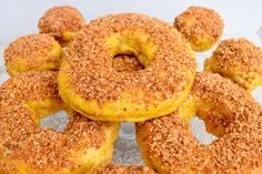 Walnut Crusted Butternut Squash Donuts: These yeast risen donuts are insanely delicious and taste just like fall! Can be baked or fried.