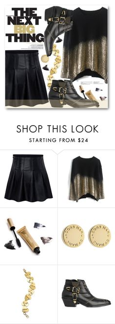 """""""Black&Gold"""" by stylemoi-offical ❤ liked on Polyvore featuring moda, Jane Iredale, Marc by Marc Jacobs, Anine Bing y stylemoi"""