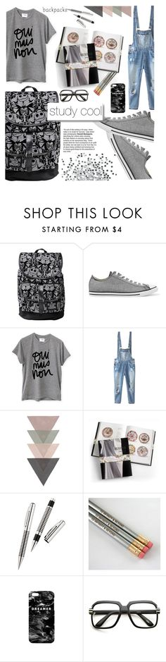 """""""style"""" by shafsnizzler ❤ liked on Polyvore featuring Converse, Sincerely, Jules, Relaxfeel, Herend, Mr. Gugu & Miss Go, ZeroUV, White Label, backpacks, contestentry and PVStyleInsiderContest"""
