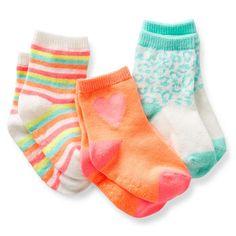 3-Pack Print Crew Socks
