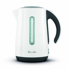 #Breville  Soft White Top #Kettle has a soft open lid that slowly releases steam, preventing splashing , and large dual water windows for left or right-handed viewing. All parts in contact with water are BPA-free and a removable scale filter is included in this 7-cup (1.7 liter) capacity kettle.
