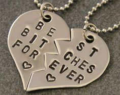 Best Bitches Forever Necklaces - Best Friend Jewelry - BFF Jewelry - Best Bitch Charms - Stainless Steel Necklace Set - Best Friend Gift on Etsy, $25.00