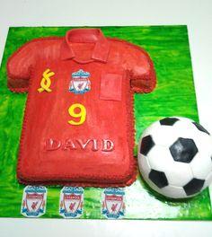 Soccer shirt and ball cake