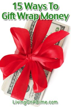 When you want to give cash as a gift, there are still ways to make it special! Here are 15 ways to gift wrap money that make a fun and creative way to give cash, especially to teenagers! Creative Money Gifts, Cool Gifts, Diy Gifts, Money Gifting, Gift Money, Money Cards, Gift Card Presentation, Christmas Holidays, Christmas Gifts