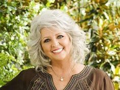 Paula Deen, my dream women, imagine the great dinners and cocktails after work, Heaven Medium Shaggy Hairstyles, Layered Haircuts, Cute Hairstyles, Curly Hair With Bangs, Curly Hair Styles, Cut And Style, Cut And Color, Paula Deen, Silver Hair
