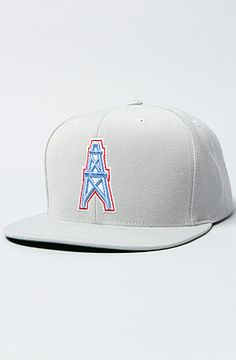 The Houston Oilers Basic Logo Snapback by Mitchell 2bd242e7a6eb