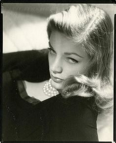 """Bacall. Known as """"The Look""""."""