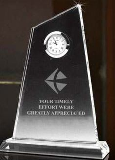 Wholesale supplier of Slanted Crystal Clock Awards, Slant Crystal Tower Award, Engraved Crystal Slanted Block Clock, Optical Crystal Slanted Block Clock Recognition Awards, Employee Recognition, Crystal Gifts, Clear Crystal, Crystal Awards, How To Motivate Employees, Customer Appreciation, Desk Clock, Retirement Parties