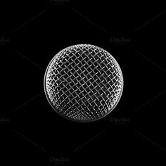 microphone top view by AlexZaitsev on @creativemarket