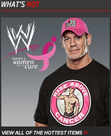 Get the Gear. Join the Fight  WWE, John Cena & Susan G. Komen for the Cure are Teaming Up Against Breast Cancer. #RiseAboveCancer