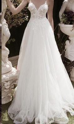 Summer Spring Sexy Back Lace Wedding Dress by DressKimbelina