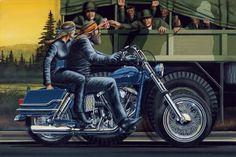 Motoblogn: David Mann - The Norman Rockwell of Biker Art