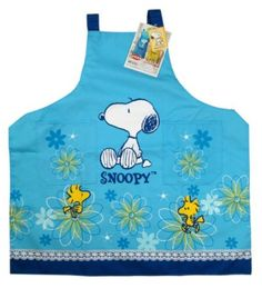 Amazon.com: Blue Flower Snoopy and Woodstock Apron - Snoopy Apron: Home & Kitchen