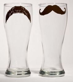 What a cute idea, have people draw mustaches with dry erase markers and that way everyone knows whose cup is whose!
