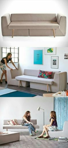 A modular sofa for your small living room. Designed by Fabrizio Simonetti, Sofista modular sofa is perfect for small living rooms. Tiny House Furniture, Smart Furniture, Modular Furniture, Space Saving Furniture, Furniture Design, Modular Couch, Furniture Ideas, Italian Furniture, Furniture Stores
