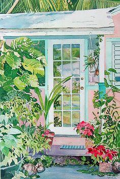 Coconut Grove Hideaway (Carol Garvin watercolor)