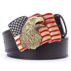 US Flag Belt Buckle Metal //Price: $31.88 & FREE Shipping //   #manaccessoriesworld