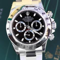 #Rolex #Cosmograph #Daytona #watch in stainless steel with black dial. Screw down crown & #chronograph buttons, Water Resistant 100m, Rolex reference #116520. Unworn condition. Visit www.prestigetime.com for pricing. (factory protective stickers visible in image). #rolexwatch #rolexdaytona #watches #wristwatch #wristcandy #wristporn #watchoftheday #watchesofinstagram #watchaddict #luxury #luxurylife #luxurywatches #menswear #menswatch #forsale #rolexwatches #rolexro #daytona116520 #horology