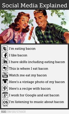 Social Media Explained . BACON *_*