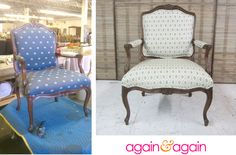 french bergere chair makeover