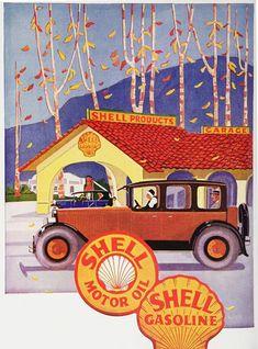 Shell Pecten Embossed Tin Metal Sign Gas Station Motor Oil /& Gasoline