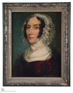 Antique Victorian painting oil portrait on by MadrigalleryDotCom