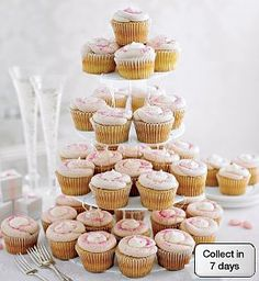 Strawberry and white chocolate cupcakes from Marks and Spencer Food to Order