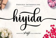 Hiyida Script Font by Creative.lafont on @creativemarket