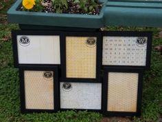 Dry erase frame calendar