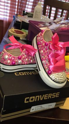 Bling out toddler chucks i made !