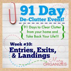 91 Day De-Clutter Week 10 -- Entries Exits and Landings -- #91DayDeClutterChallenge -- #organization #decluttering