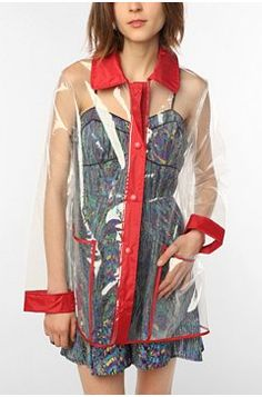 clear raincoat