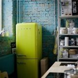 I don't know about you, but the sight of a Smeg refrigerator in a kitchen just makes me happy. I love how much personality they add to a room. They're so streamlined, so retro, so cheerful!