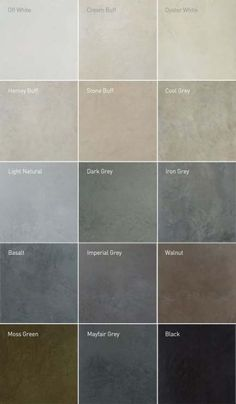 Lazenby recommend unique colours for their superior polished concrete installations. RAL colour matches available. Visit our London Showroom by appointment. More house flooring, Recommended Polished Concrete Colours Grey Flooring, Kitchen Flooring, Concrete Kitchen Floor, Cement Floors, Polished Concrete Flooring, Concrete Tiles, Basement Flooring, Flooring Ideas, Concrete Countertops Colors